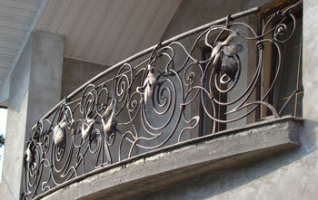 forged balcony rails price